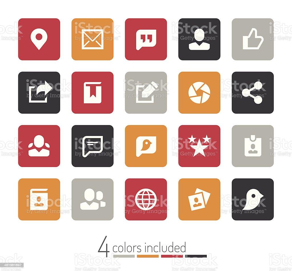 Social media icons | echo series vector art illustration