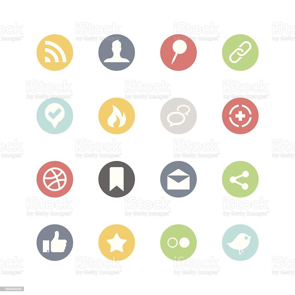 Social Media Icons : Minimal Style royalty-free stock vector art
