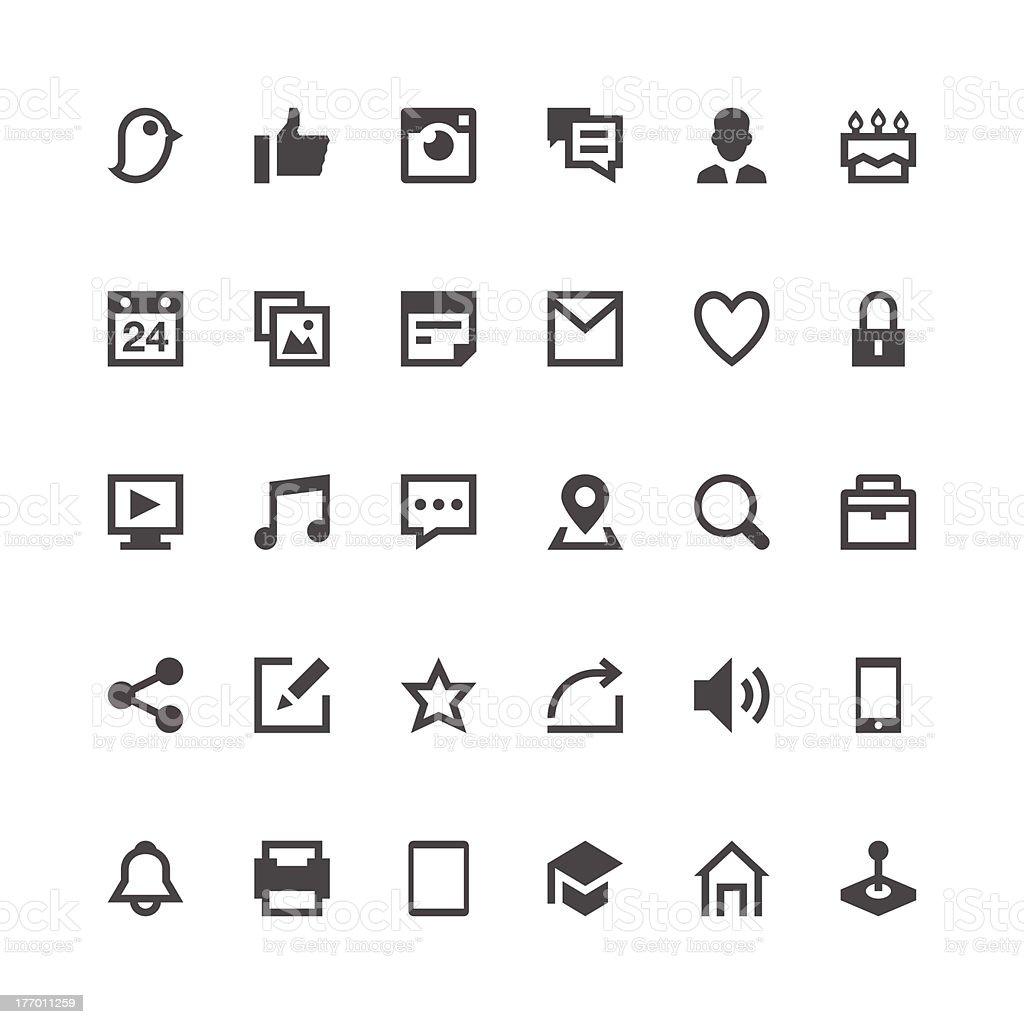 Social Media icons | Paris Series royalty-free stock vector art
