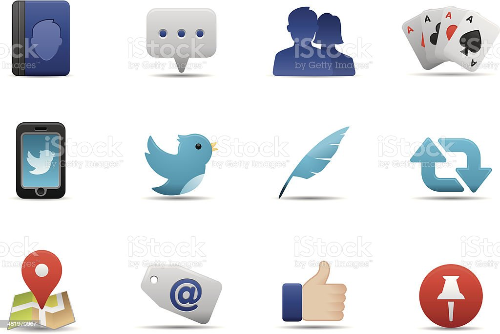 Social Media icons | Premium Matte series royalty-free stock vector art