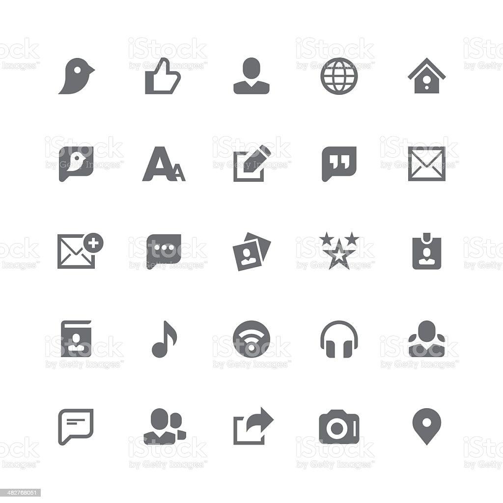 Social media icons | retina series royalty-free stock vector art