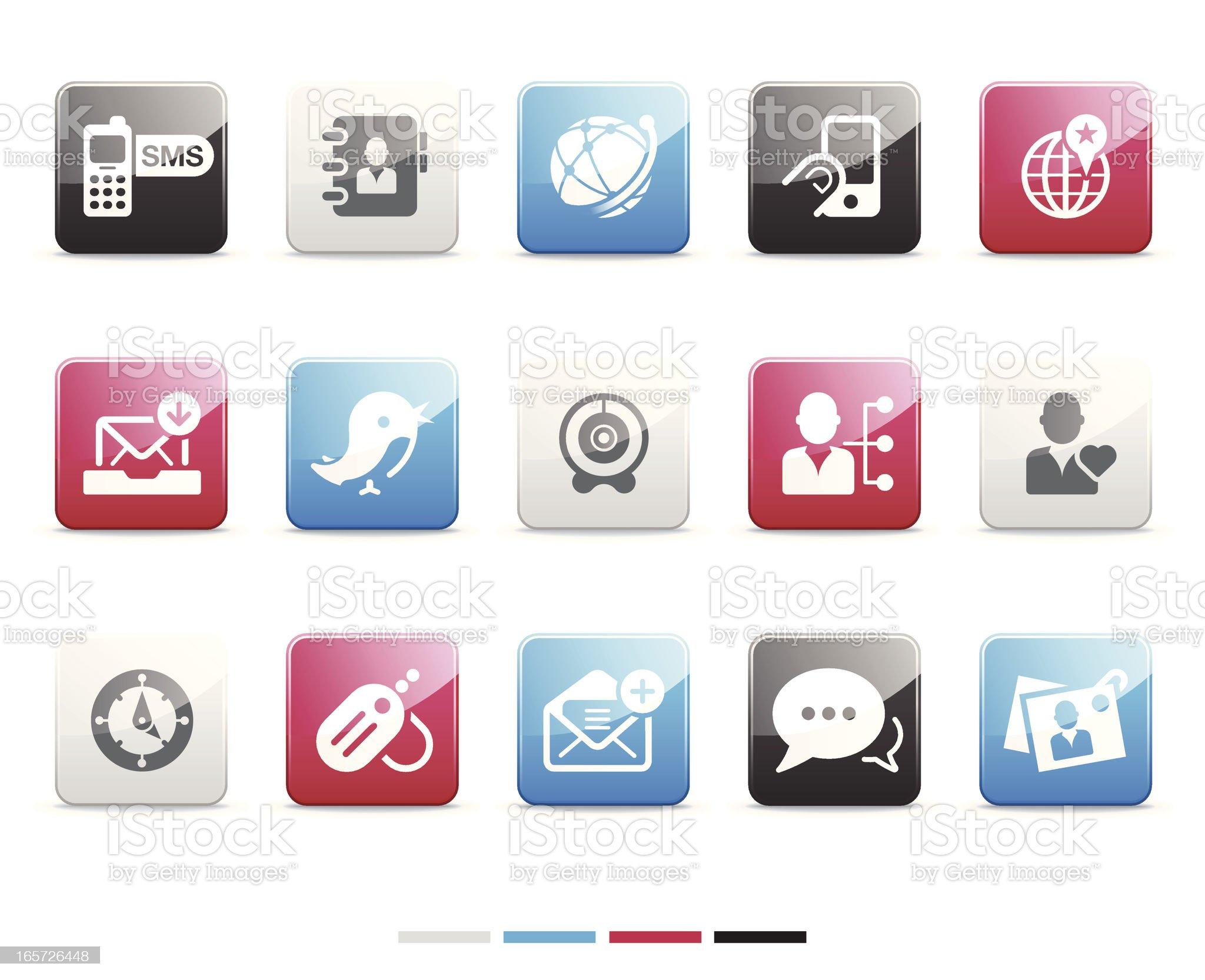 Social Media icons | Senso series royalty-free stock vector art
