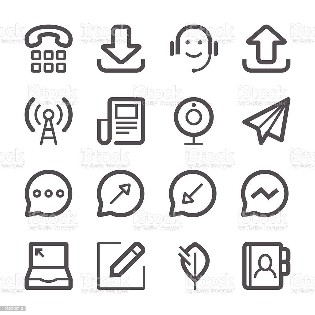 Social Media Icons set 2 | Stroke Series vector art illustration