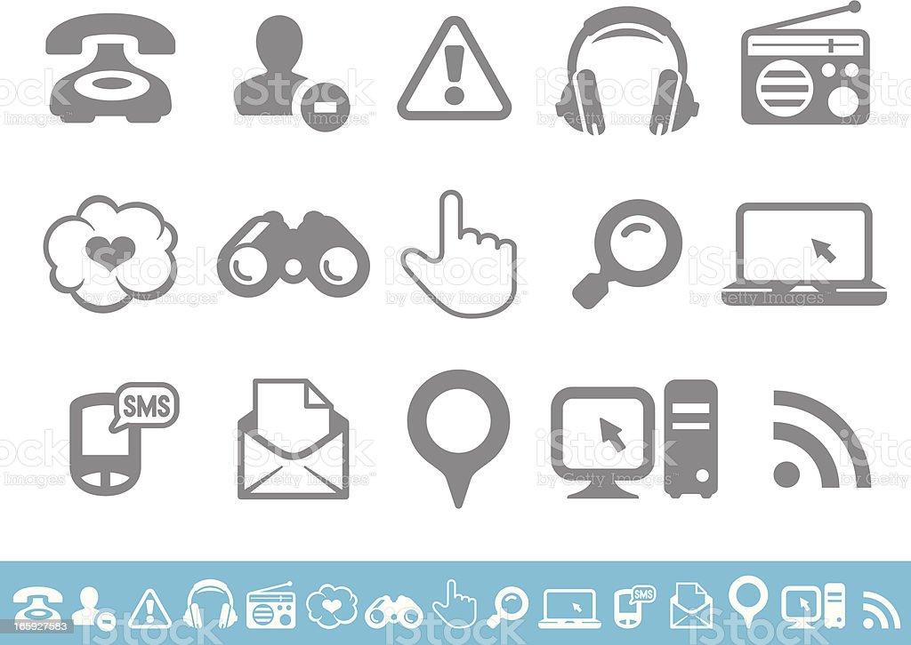Social media icons set royalty-free stock vector art