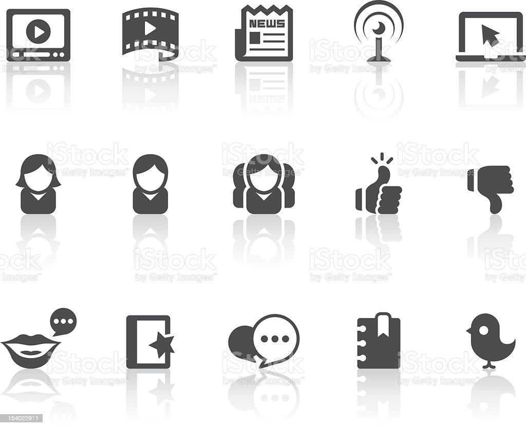 Social Media Icons | Simple Black Series royalty-free stock vector art
