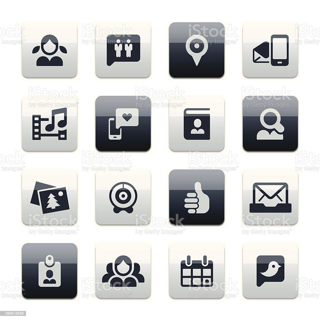 Social media icons | spark* series royalty-free stock vector art
