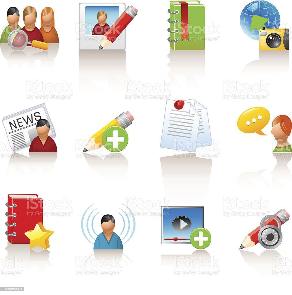 social media icons vector art illustration