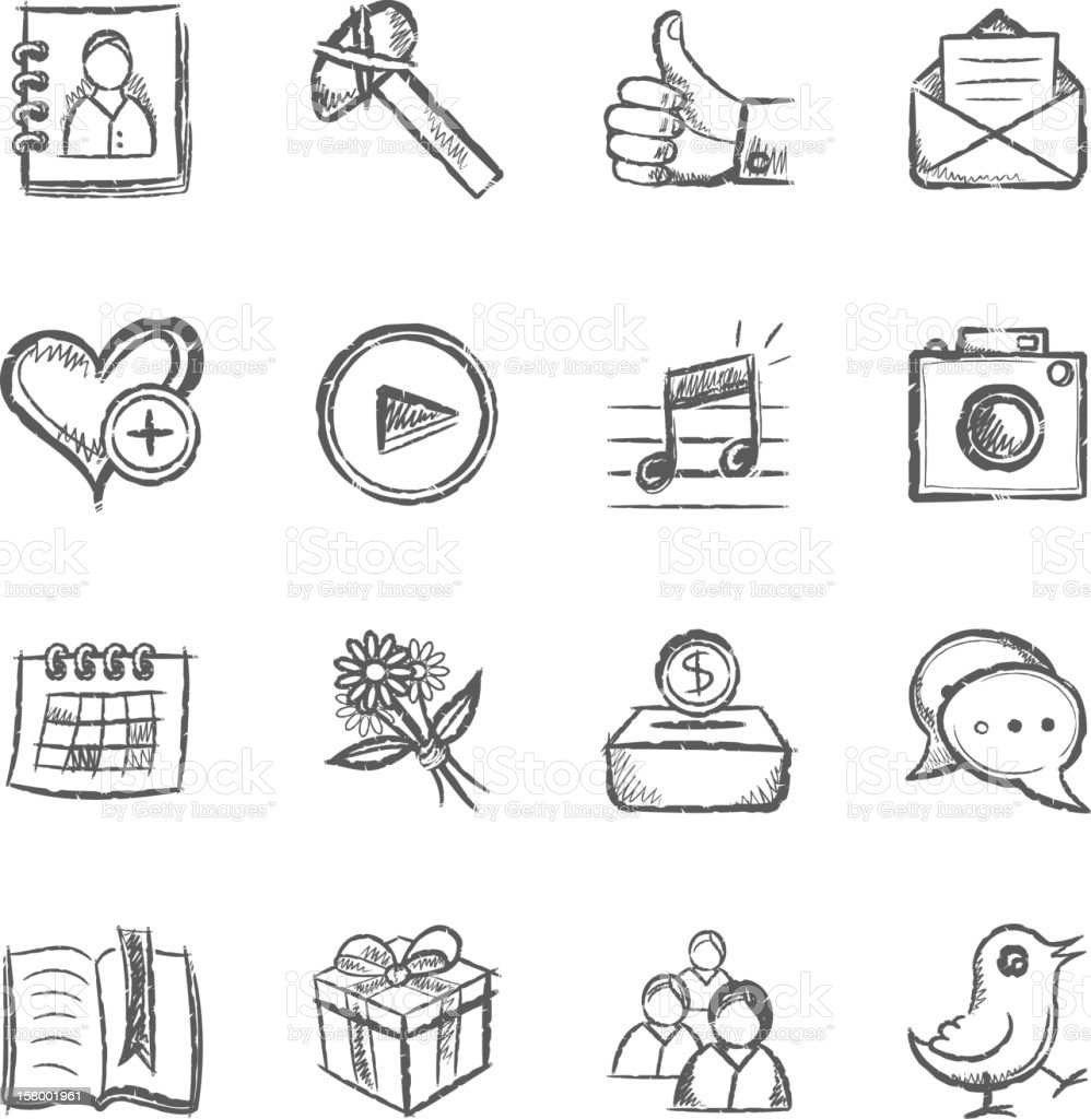 Social Media Icons vector art illustration