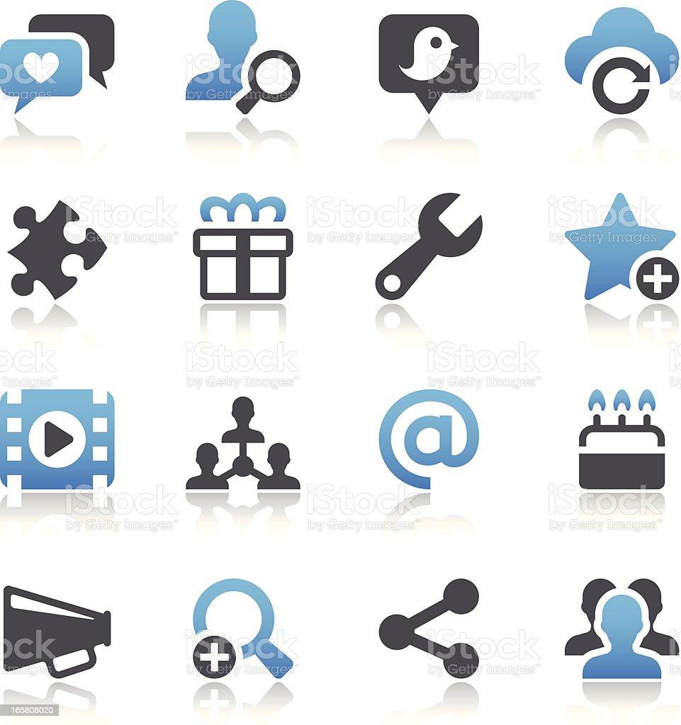 Social Media Icons royalty-free stock vector art