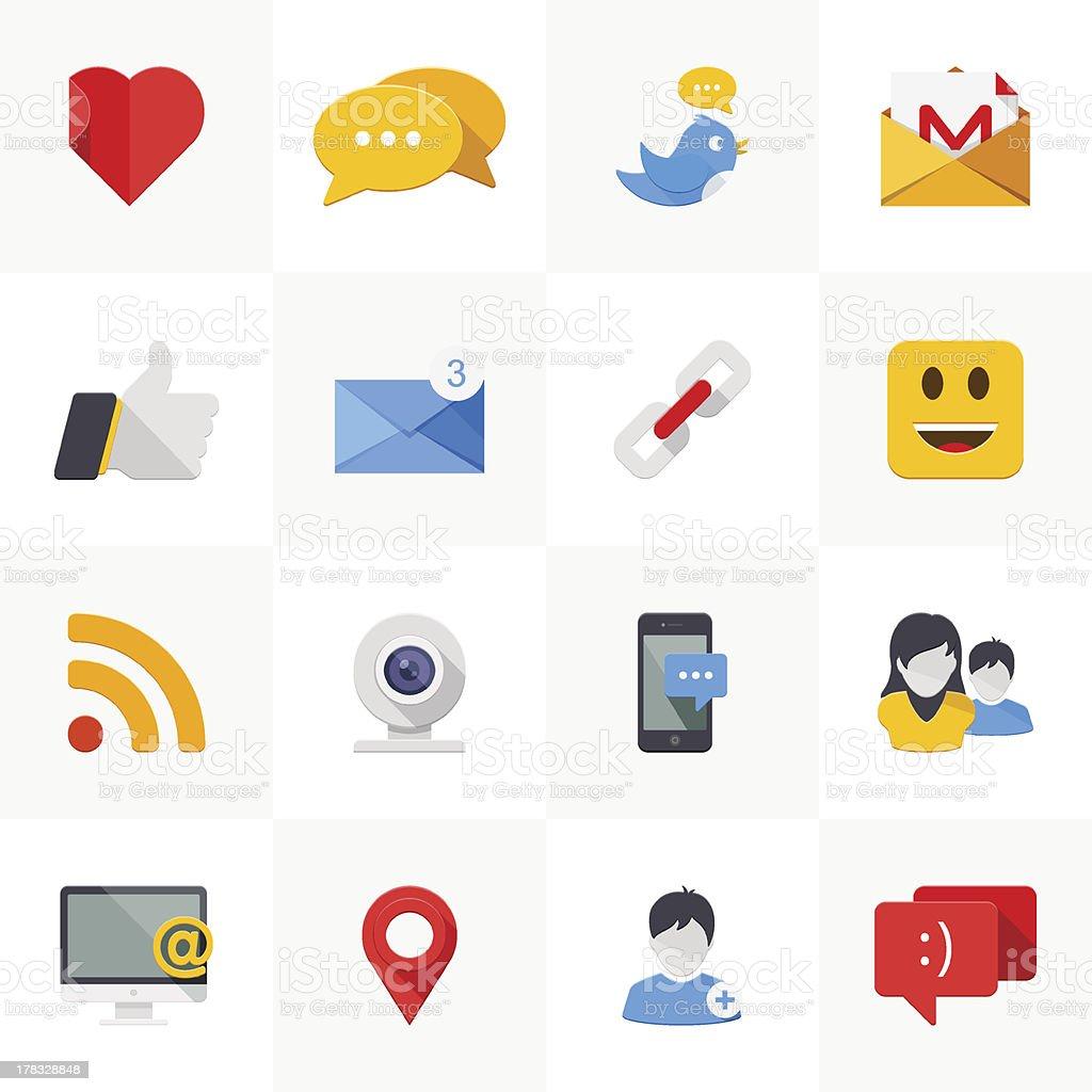Social media icons. royalty-free stock vector art