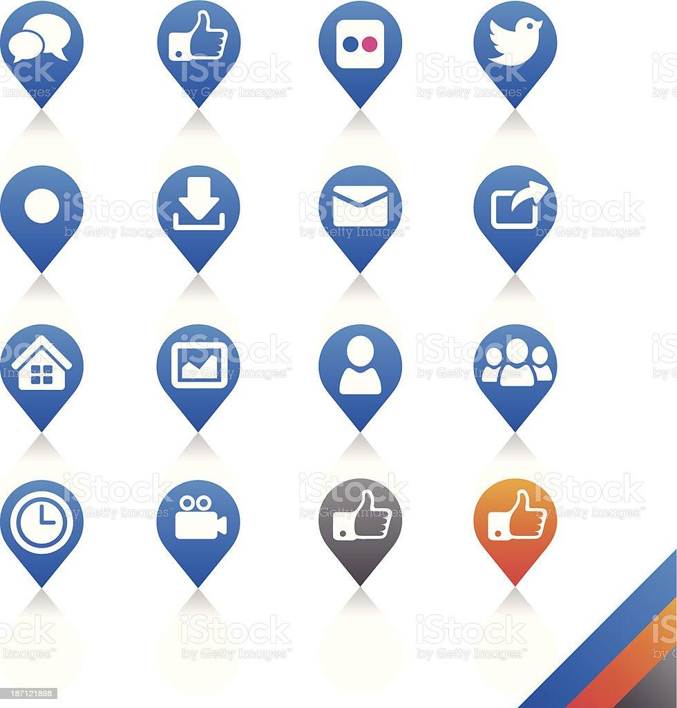 Social media icons vector - Simplicity Series royalty-free stock vector art