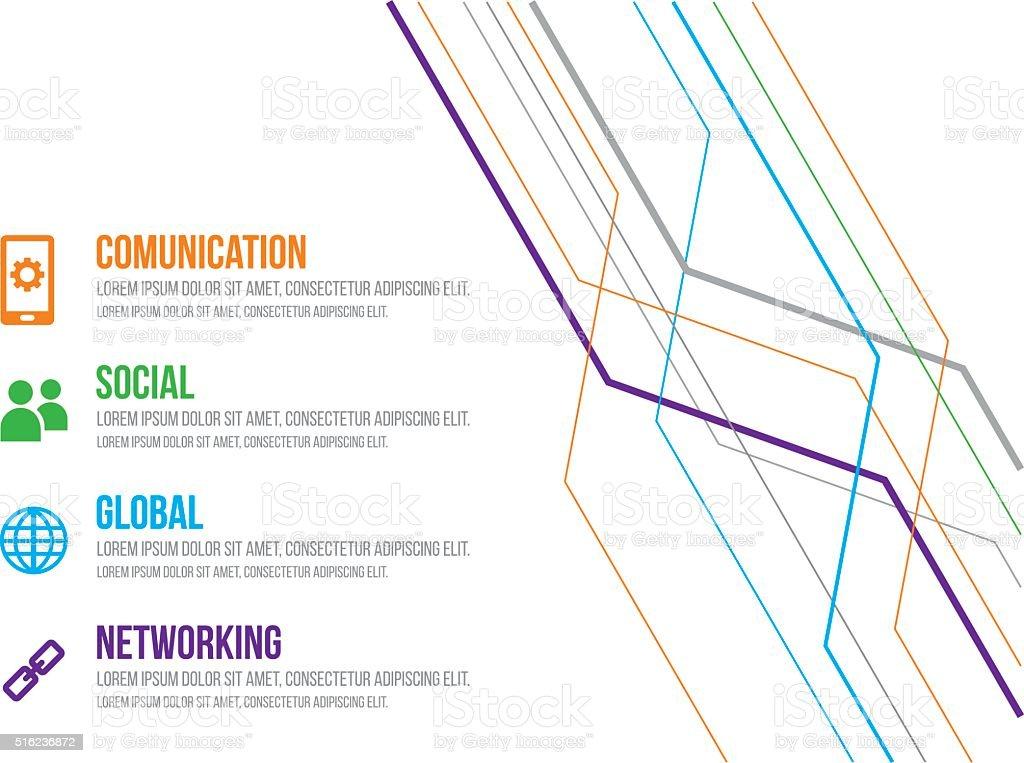 Social Media Infographic vector art illustration