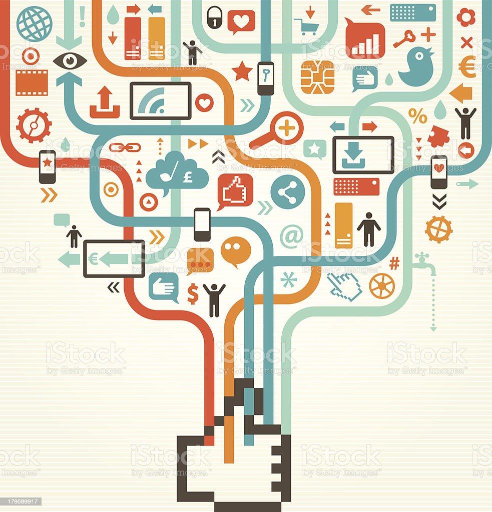 Social Media Like Concept royalty-free stock vector art