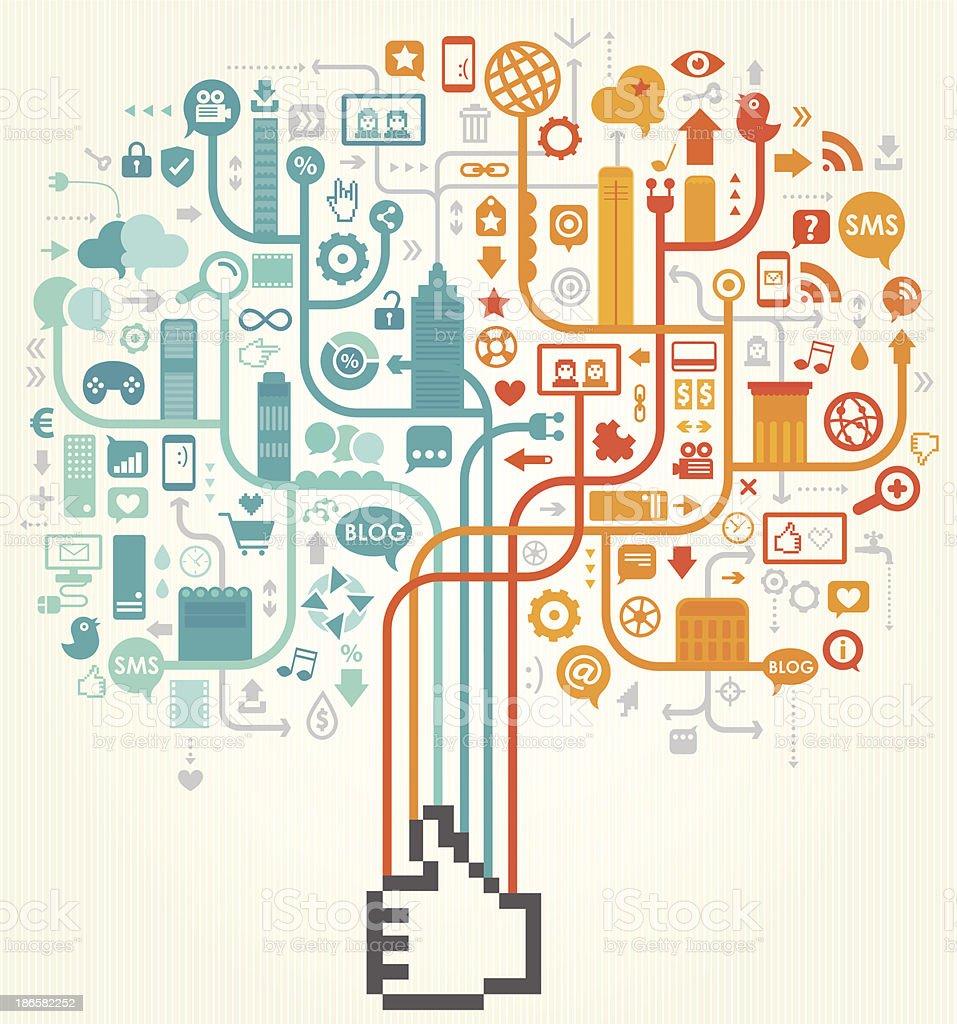 Social Media Like Design royalty-free stock vector art