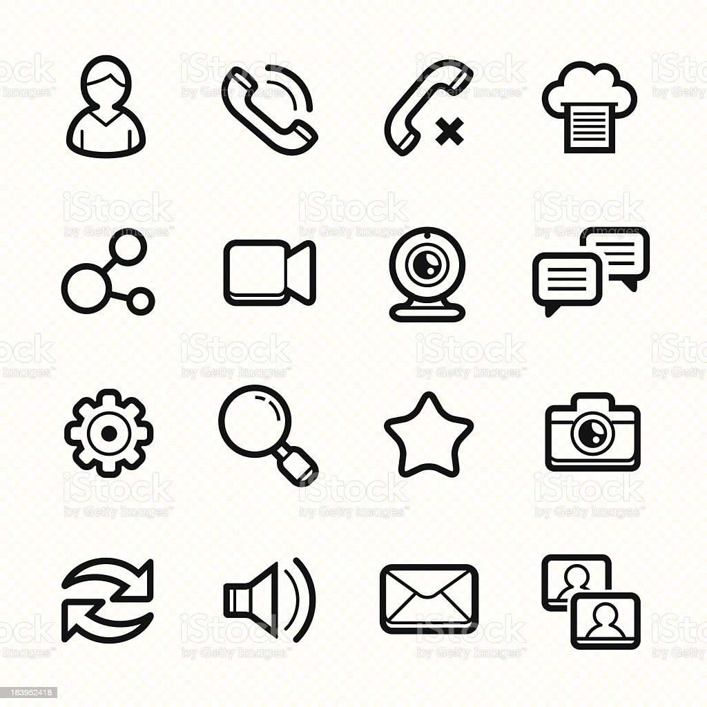 Social Media line icons set #2 Vector illustration royalty-free stock vector art