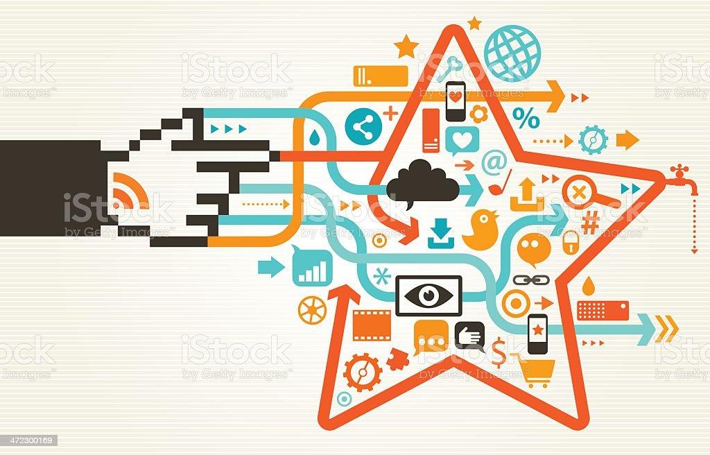 Social Media Magic Concept royalty-free stock vector art