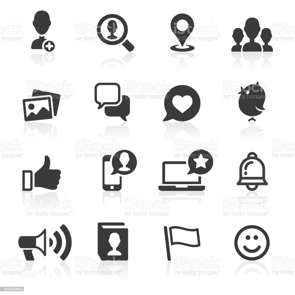 Social Media & Messaging Icons. vector art illustration