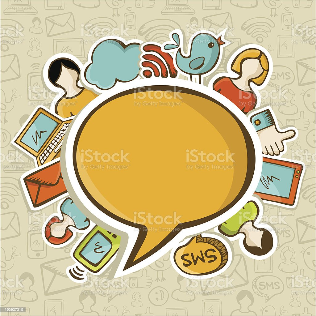 Social media network people connection royalty-free stock vector art