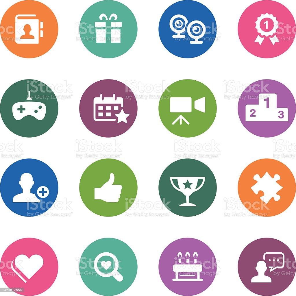 Social media of circle icons series vector art illustration