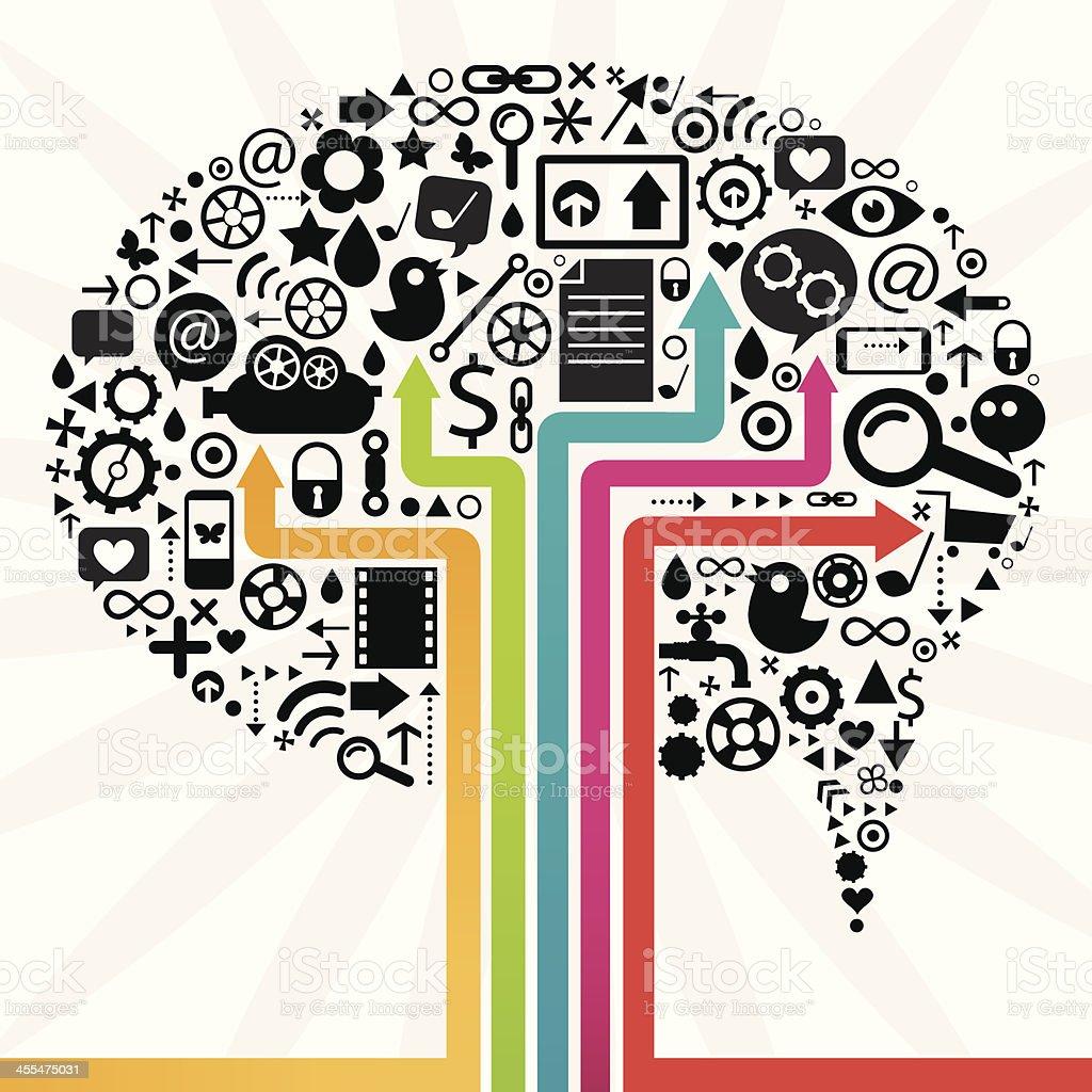 Social Media Speech Bubble Design royalty-free stock vector art