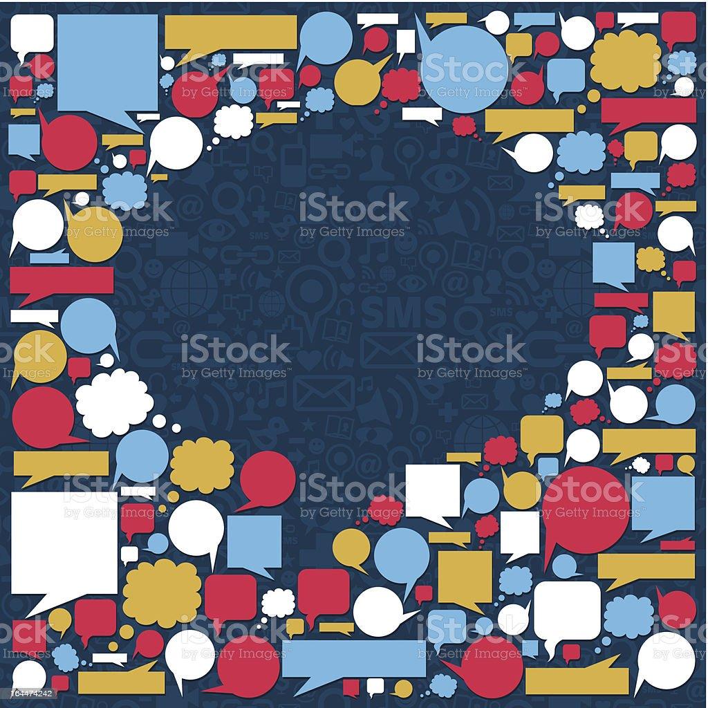 Social media talk bubble texture royalty-free stock vector art