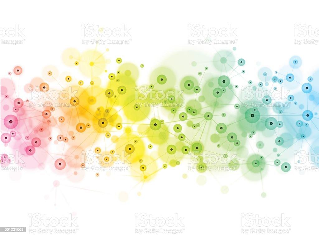 Social media technology network background vector art illustration