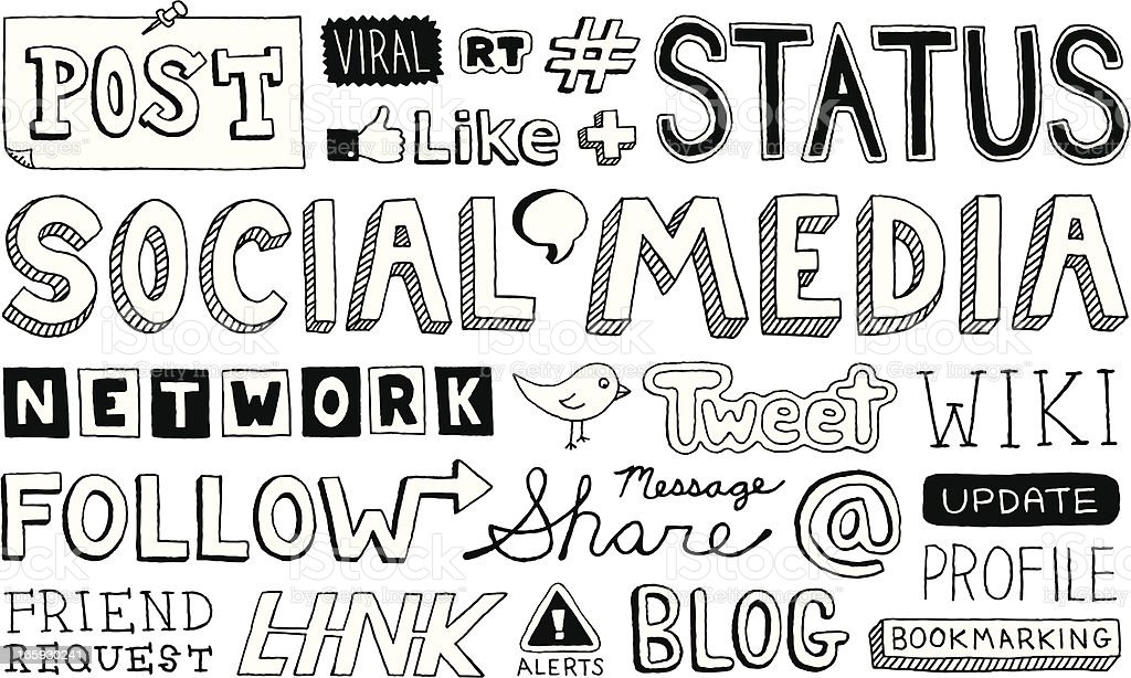 Social Media Text royalty-free stock vector art