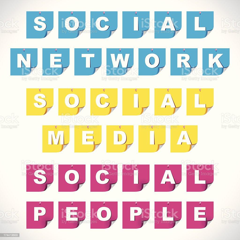 social media text vector art illustration
