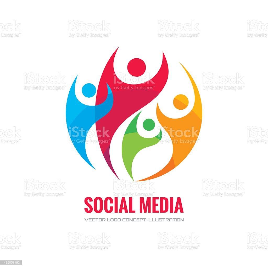 Social media - vector concept illustration. vector art illustration
