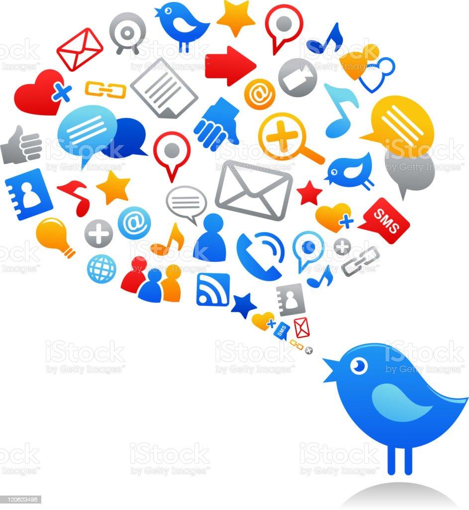 social media vector art illustration