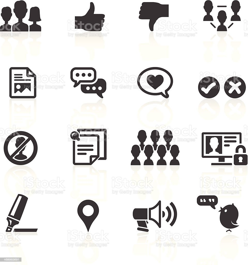 Social Media & Web Icons vector art illustration