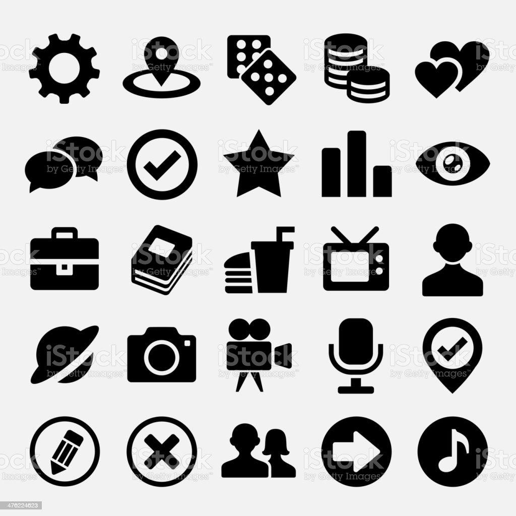 Social net icons set royalty-free stock vector art