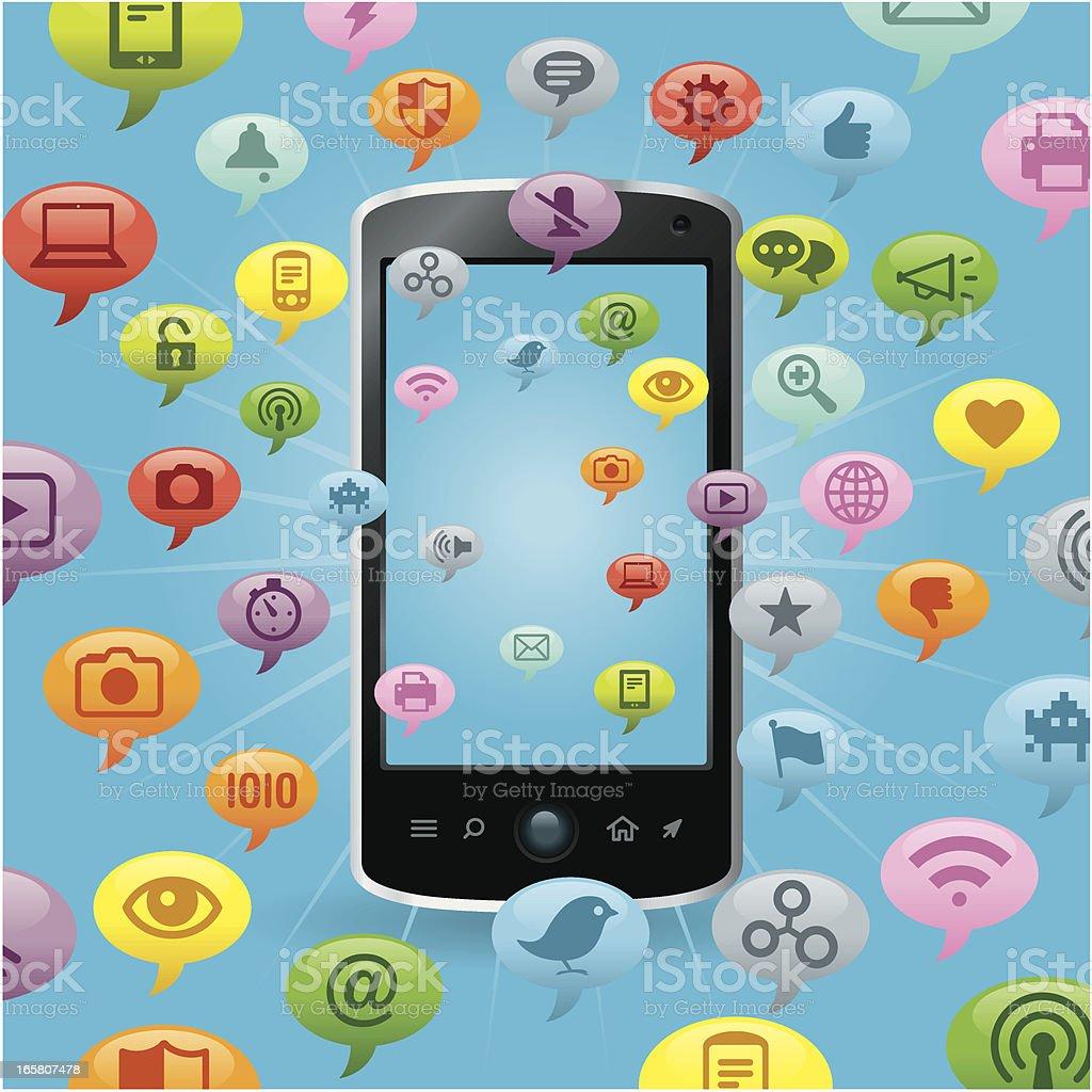Social Network Concept Color royalty-free stock vector art