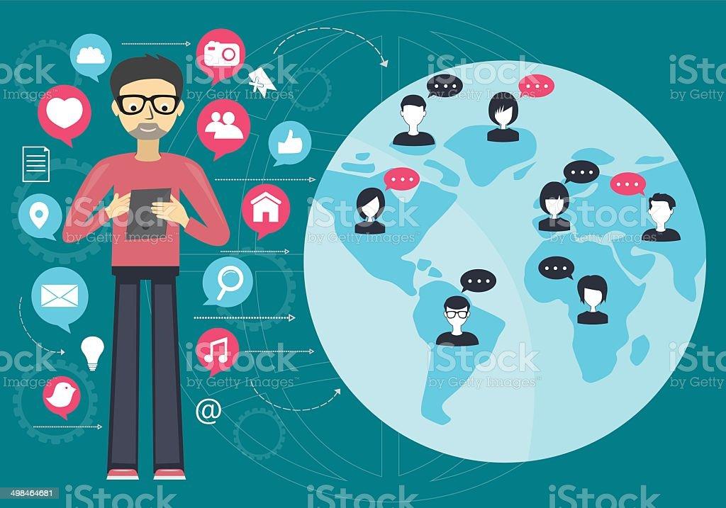 social network concept royalty-free stock vector art