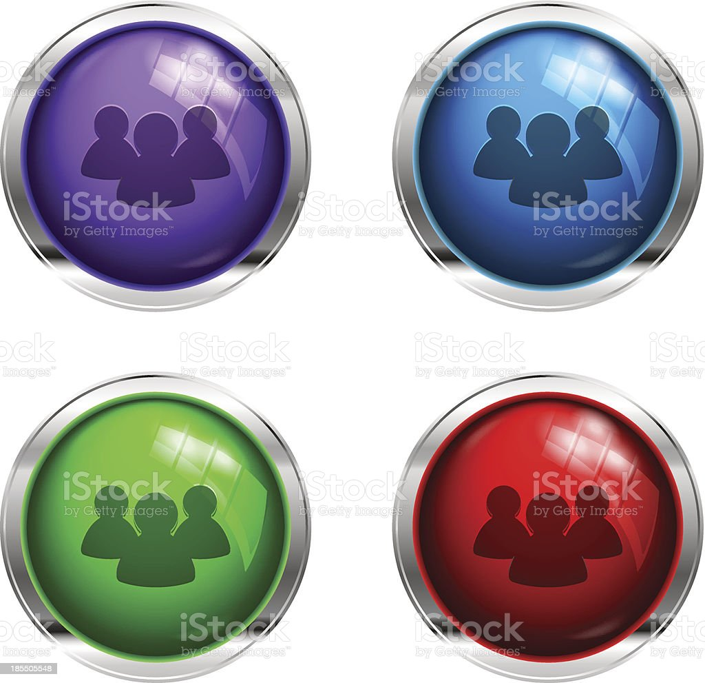 Social network glossy buttons royalty-free stock vector art