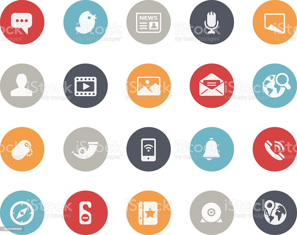 Social Network Icons // Classics vector art illustration
