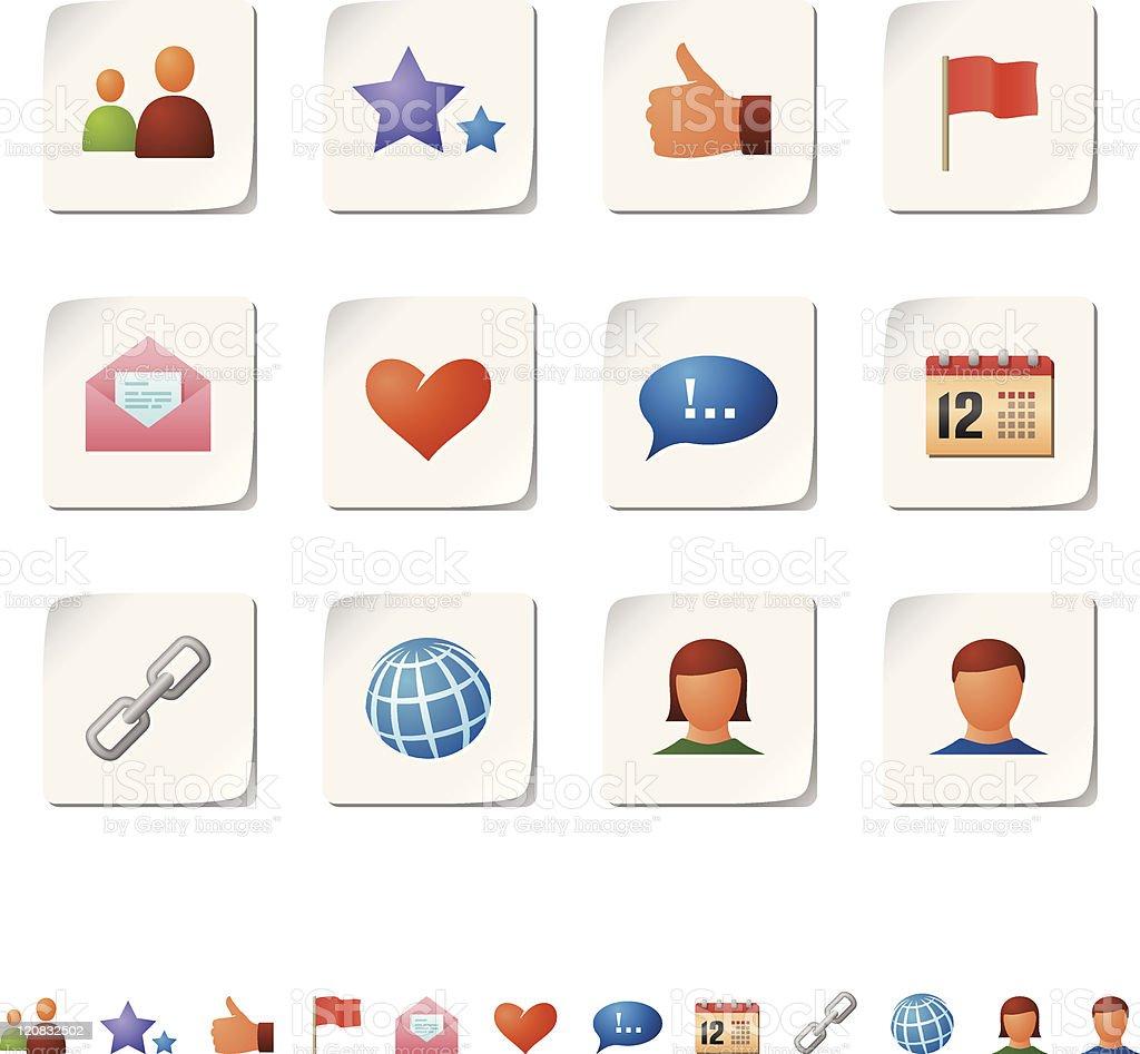 Social network icons royalty-free stock vector art
