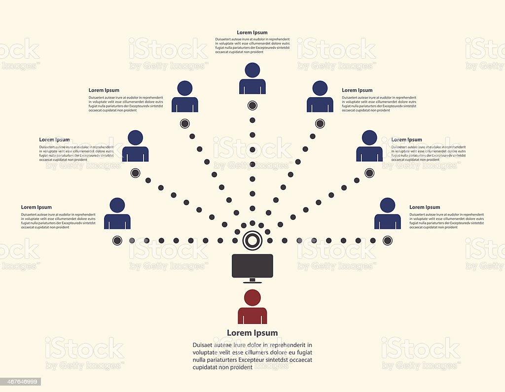 Social network infographic template vector art illustration