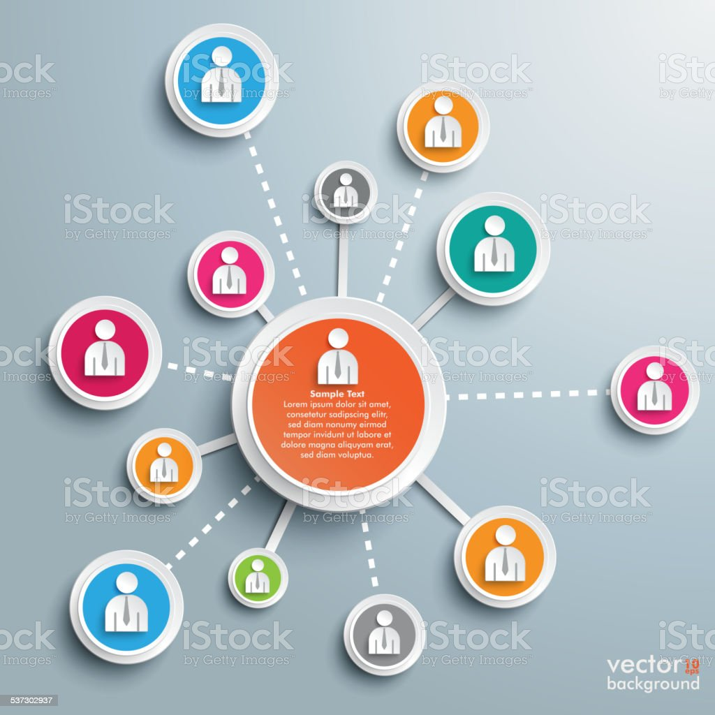 Social Network Infographic vector art illustration