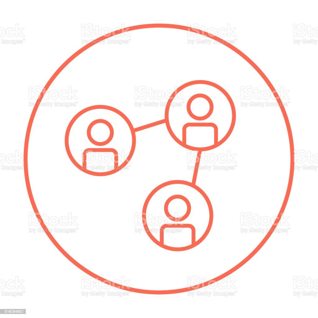 Social network line icon vector art illustration