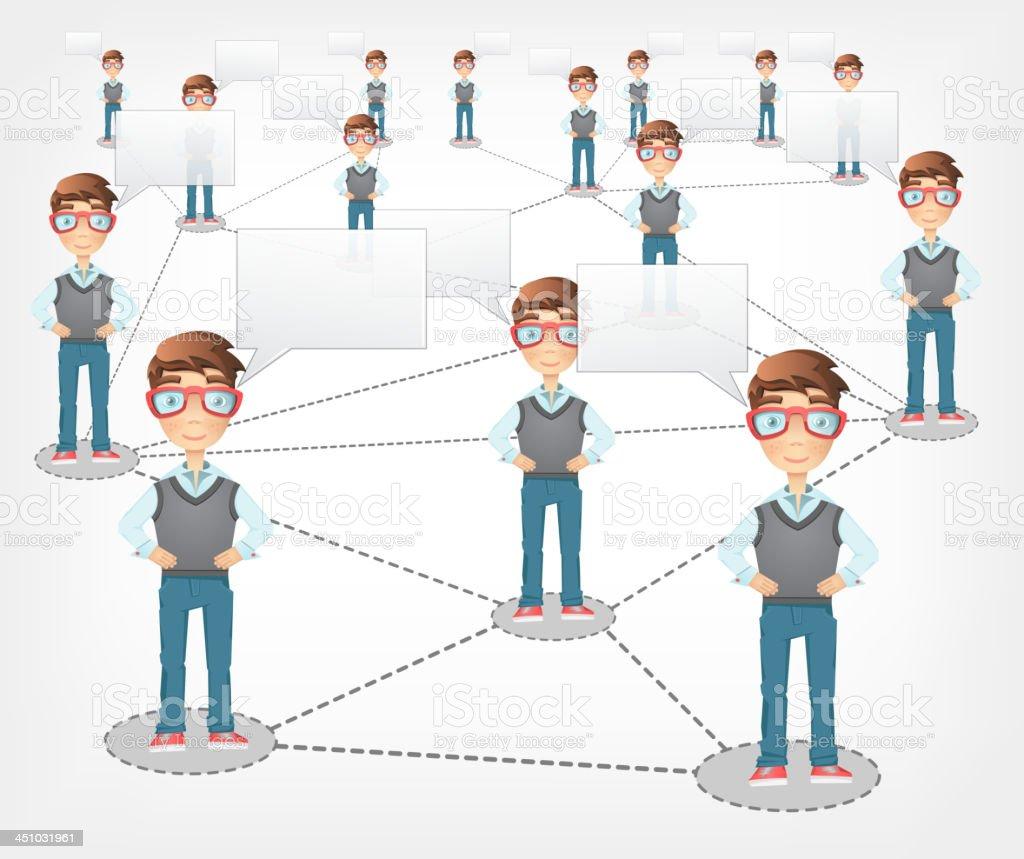 Social Network. Vector EPS 10. royalty-free stock vector art