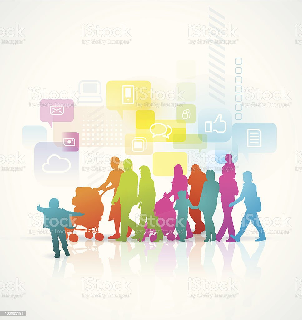 Social Network royalty-free stock vector art