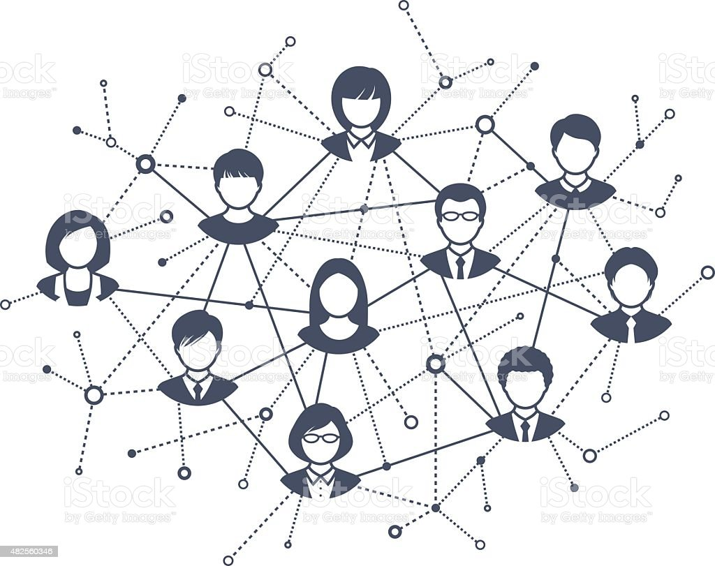 Social Network vector art illustration