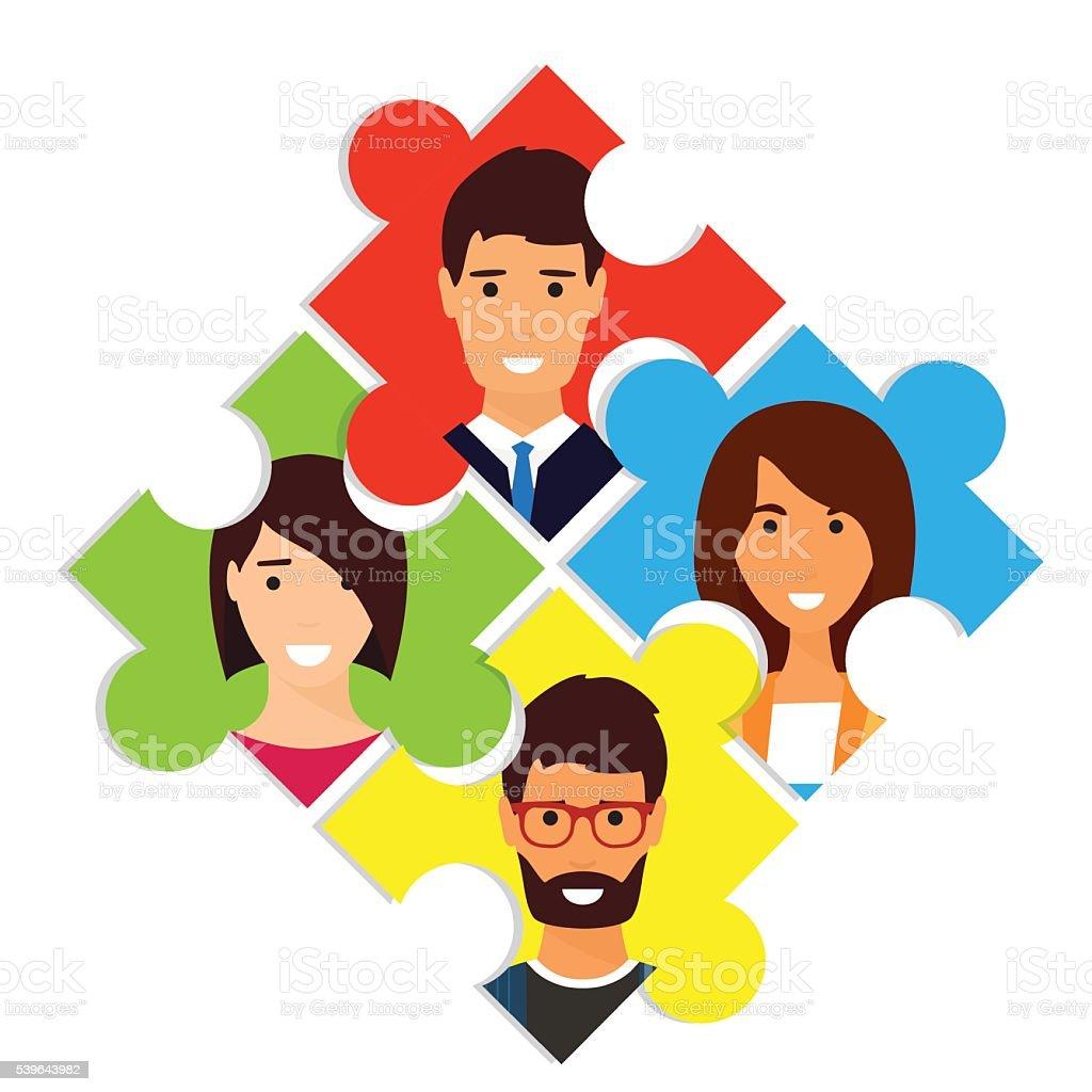 Social network vector vector art illustration