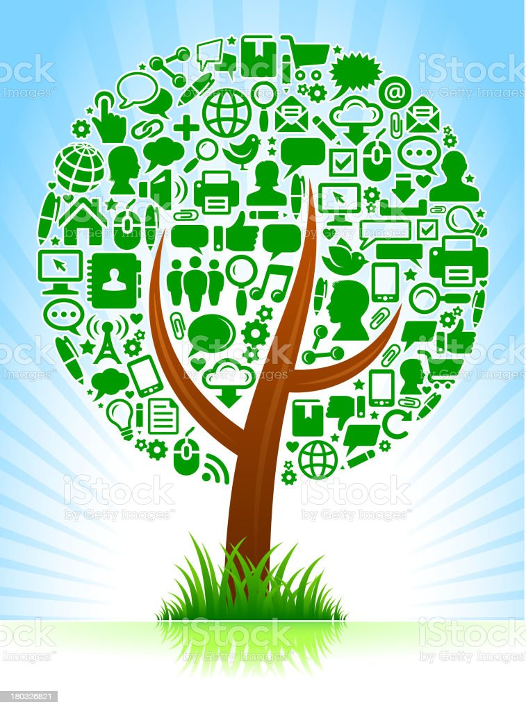 Social Networking & Communication royalty free vector art Tree royalty-free stock vector art