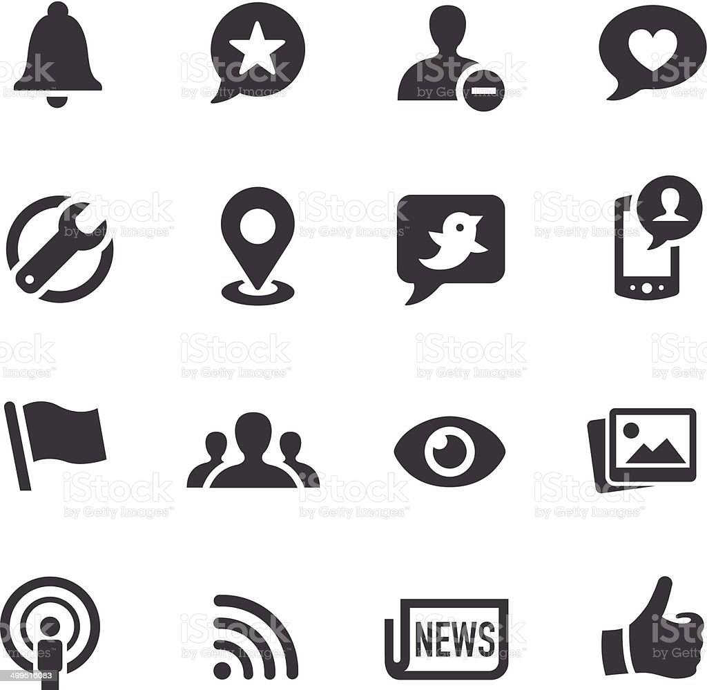 Social Networking Icons - Acme Series vector art illustration