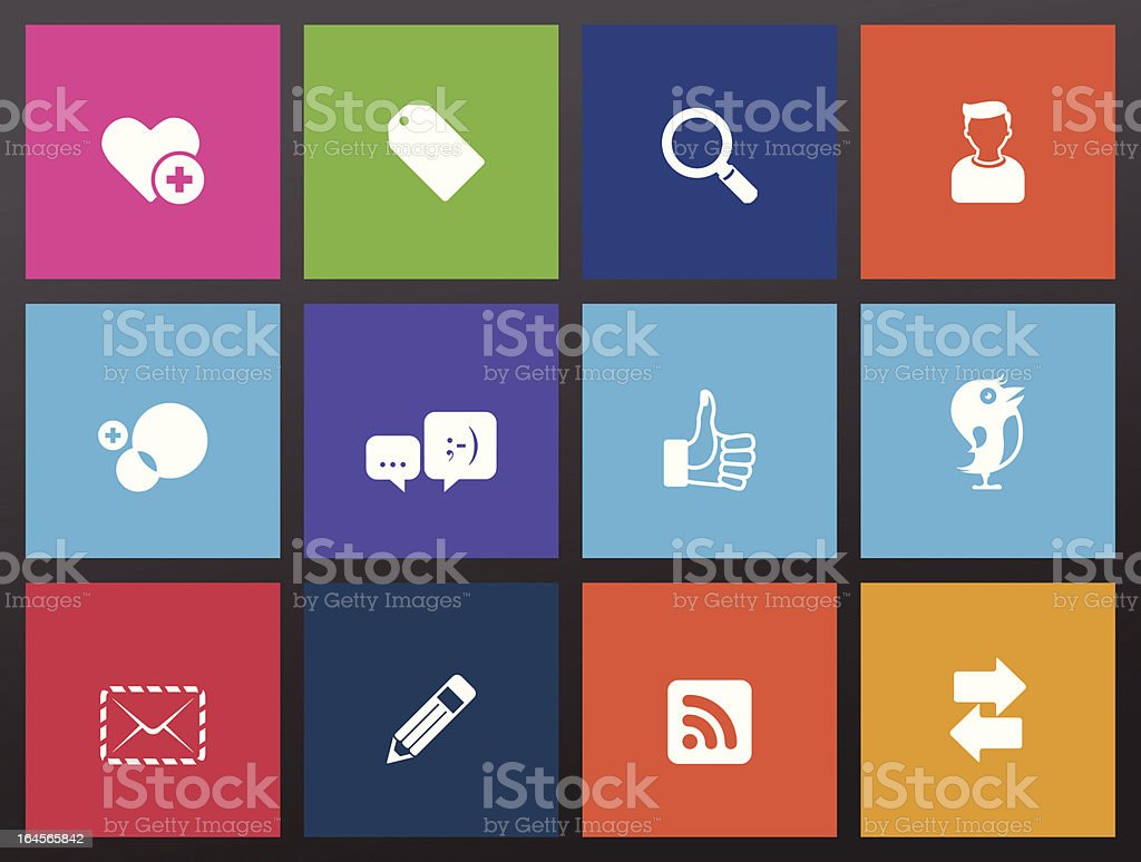 Social Networking Icons vector art illustration