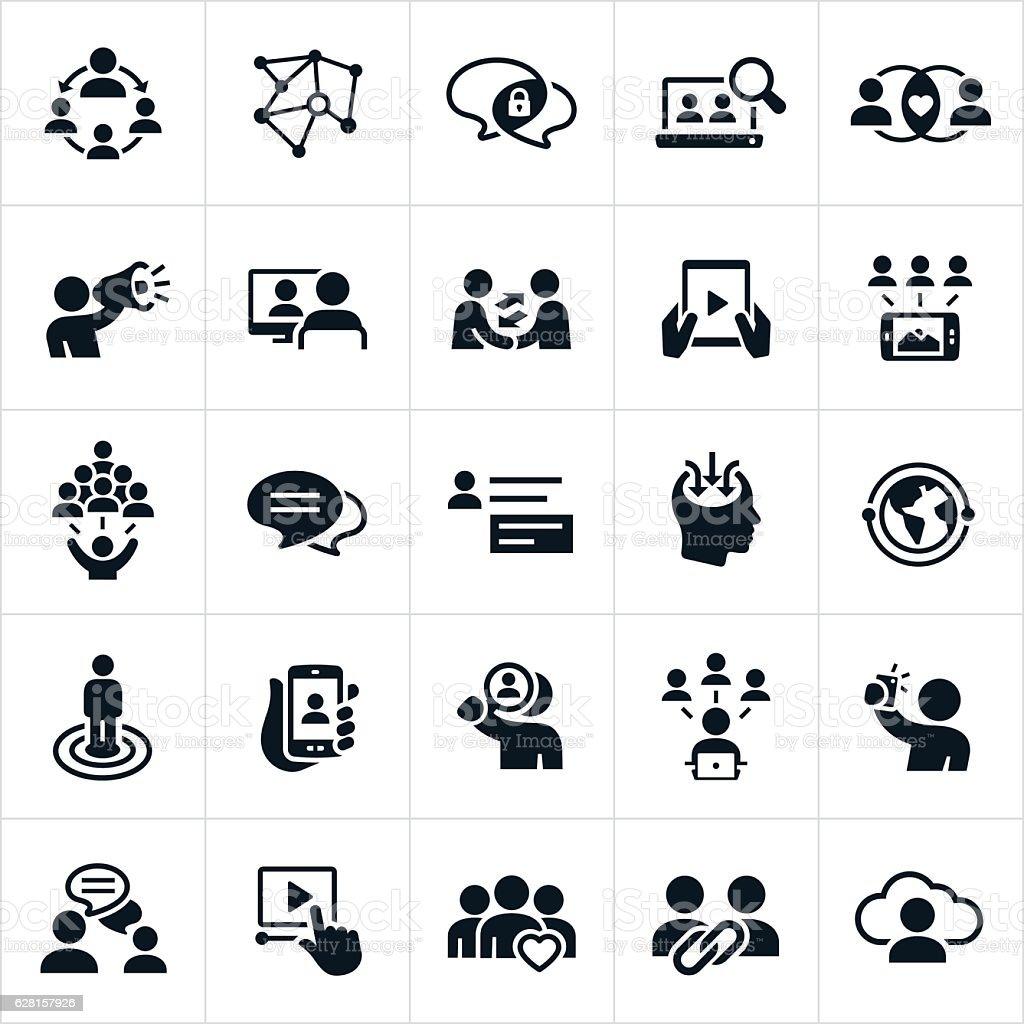 Social Networking Icons vector art illustration