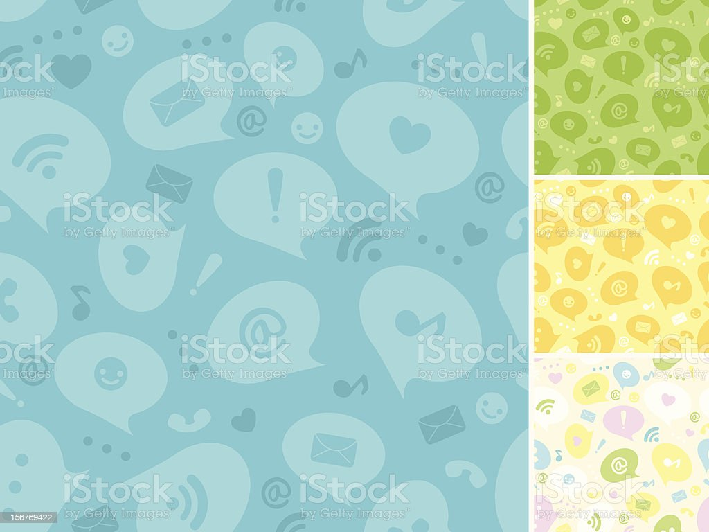 Social Networking Seamless Patern royalty-free stock vector art