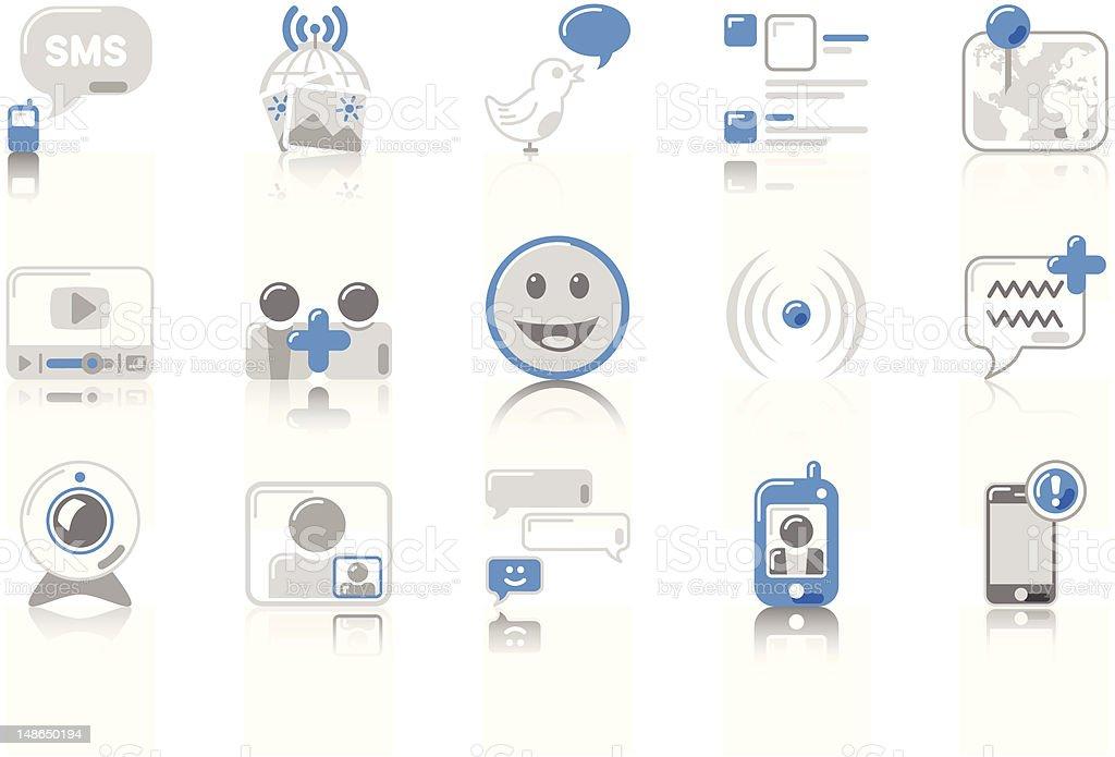 Social Networking - SunnydayBLUE Series royalty-free stock vector art